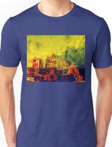 Upside-down geraniums on a pond Unisex T-Shirt