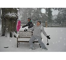 fun in the snow - Woking Surrey Photographic Print