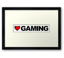Love Gaming Framed Print