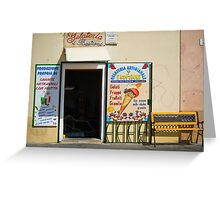 Gelateria in Sardinia Greeting Card