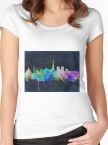 paris skyline abstract 9 Women's Fitted Scoop T-Shirt