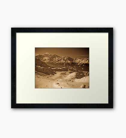 Verbier: Golden Moments of a Ski Adventure Framed Print