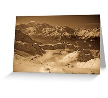 Verbier: Golden Moments of a Ski Adventure Greeting Card