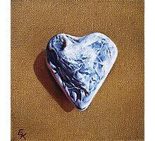 """""""Romantic heart"""" Photographic Print"""