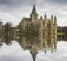 Rochester Cathedral Flood with Flaming Pears filter by brimo
