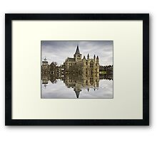 Rochester Cathedral Flood with Flaming Pears filter Framed Print