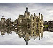 Rochester Cathedral Flood with Flaming Pears filter Photographic Print