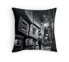 Leaning on each other to survive time Throw Pillow
