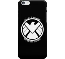 S.H.I.E.L.D. Academy Operations Division (white) iPhone Case/Skin