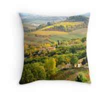 Colors of Fall - Tuscan Hills, Italy Throw Pillow