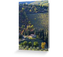 Tree Lined Hills - Tuscany, Italy Greeting Card
