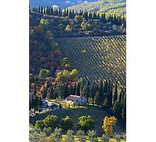 Tree Lined Hills - Tuscany, Italy Photographic Print