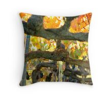Vine Pattern - Vineyard in Tuscany, Italy Throw Pillow