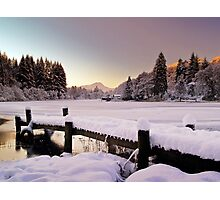 Winter's Snow Over Loch Ard Photographic Print