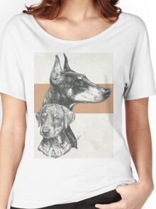 Doberman (cropped), Father & Son Women's Relaxed Fit T-Shirt