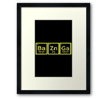 BaZnGa geek funny nerd Framed Print