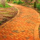 Red Brick Walkway by mrthink