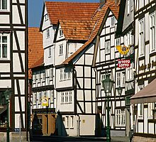 Timber Framed houses, Melsungen, Germany, 1980s. by David A. L. Davies