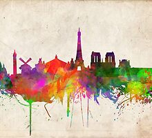 paris skyline abstract 10 by BekimART