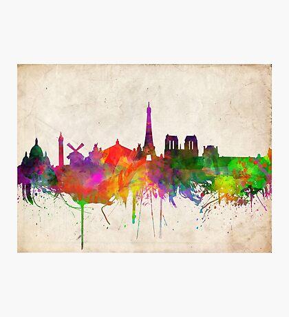 paris skyline abstract 10 Photographic Print