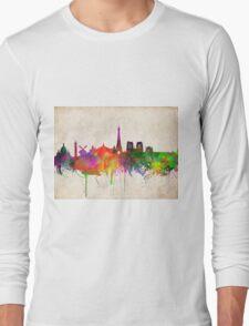 paris skyline abstract 10 Long Sleeve T-Shirt