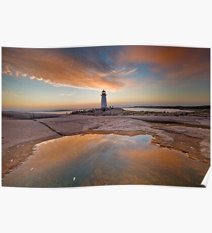 Peggy's Cove Sunset Poster