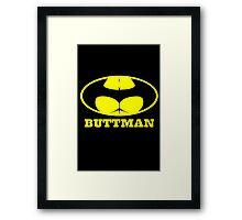 Buttman geek funny nerd Framed Print