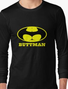 Buttman geek funny nerd Long Sleeve T-Shirt