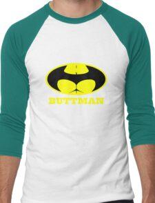 Buttman geek funny nerd Men's Baseball ¾ T-Shirt