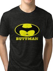 Buttman geek funny nerd Tri-blend T-Shirt