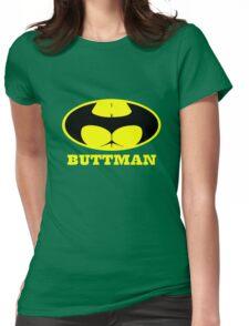 Buttman geek funny nerd Womens Fitted T-Shirt