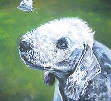 Bedlington Terrier Fine Art Painting by lashepard
