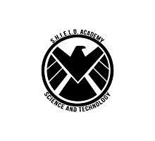 S.H.I.E.L.D. Academy Sci-Tech (Black) Photographic Print