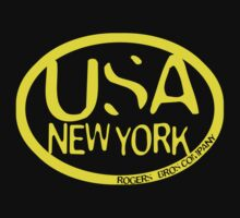 usa new york tshirt yellow by rogers bros co by usanewyork