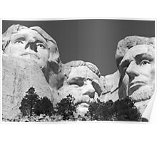 Three Presidents at Mount Rushmore  Poster