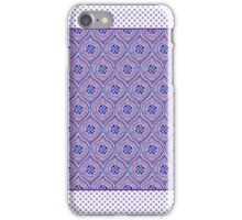 Mauve, Purple, Blue White Ogees and Polkas iPhone Case/Skin