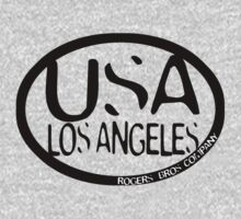 usa los angeles tshirt by rogers bros co T-Shirt