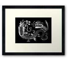 Tiger & Dragon Framed Print