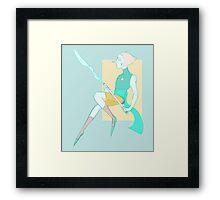 Spear Nerd Framed Print