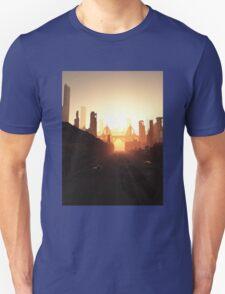 Future City Bridge at Sunrise Unisex T-Shirt