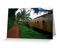 Village & The Houseboat Greeting Card
