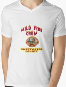 Wild Fire Crew Mens V-Neck T-Shirt