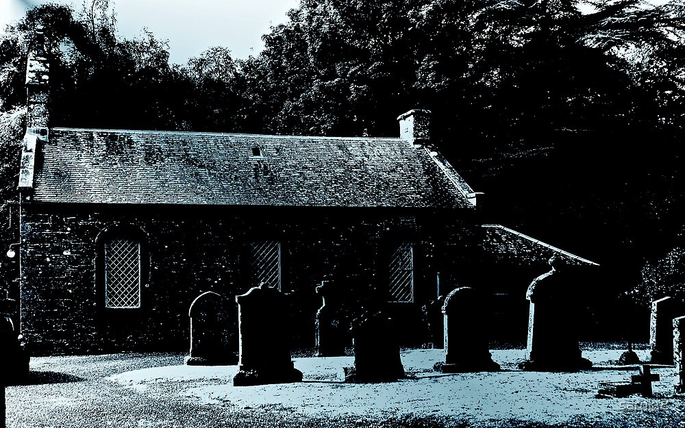 A crisp moonlit night & the graveyard cast many shadows.... by sarnia2