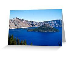 Wizard Island in Blue Greeting Card