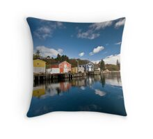 Fishing Sheds Throw Pillow