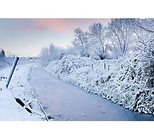 Winter Wembdon Rhyne Photographic Print