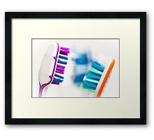 No Bad Breath Framed Print