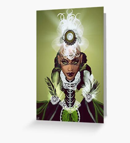 Lady Africa Greeting Card