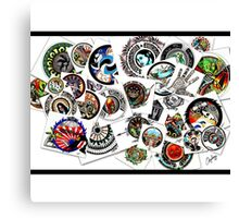Eclectic drawing collage  Canvas Print
