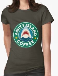 Amity Island Coffee (JAWS) - Starbucks Womens Fitted T-Shirt